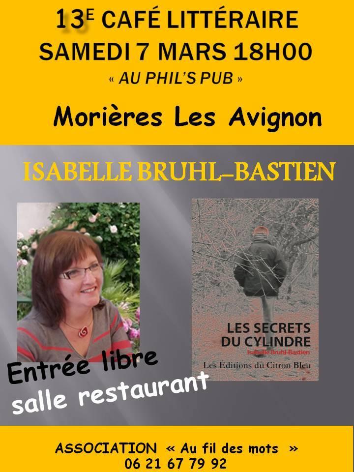 Café littéraire à Morières les Avignon 7 mars 2015