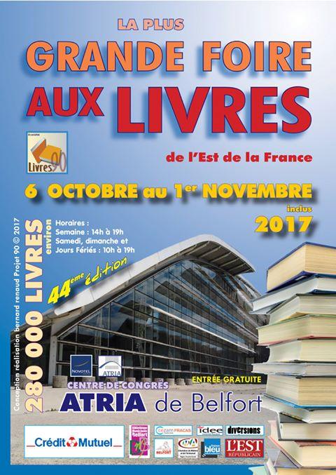 21 et 22 octobre 2017 Salon des auteurs Belfort