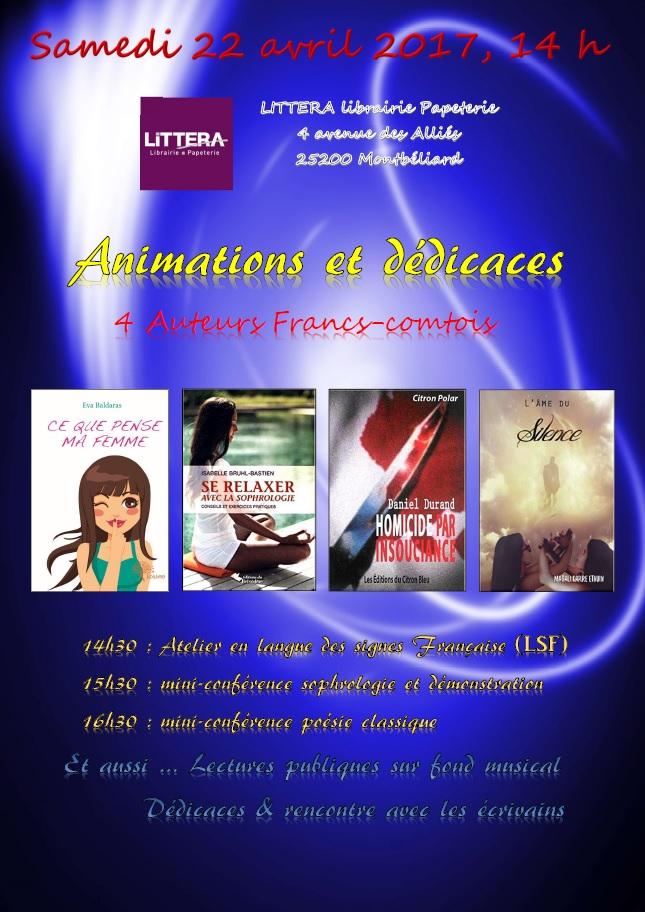 22 avril 2017 Rencontre Littéra Montbéliard