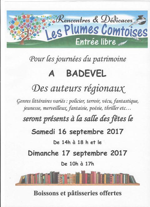 16 et 17 septembre 2017 Plumes Comtoises Badevel