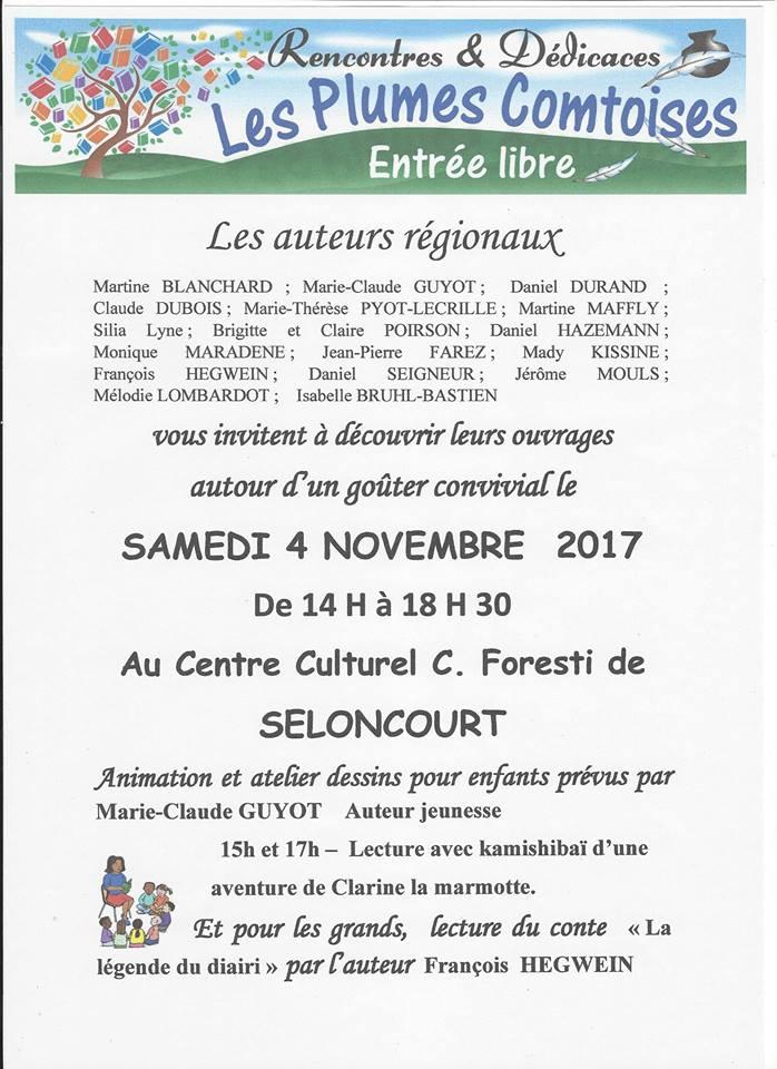 4 novembre 2017 Plumes Comtoises à Seloncourt