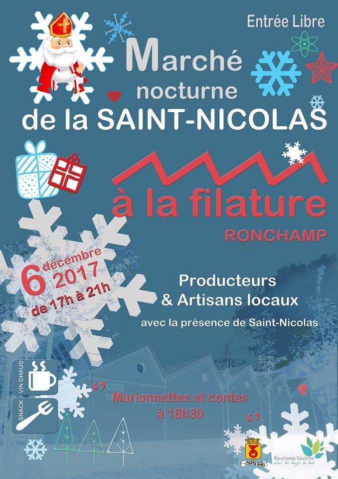 6 décembre 2017 Marché nocturne St-Nicolas Ronchamp