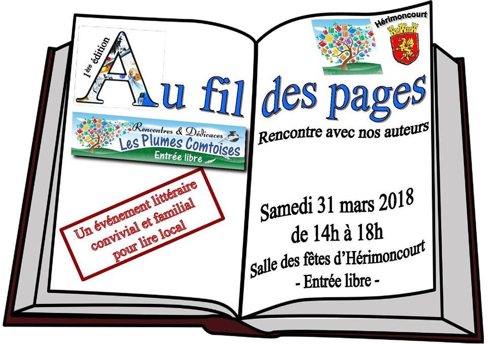 """Salon """"Au fil des pages"""" Hérimoncourt 31 mars 2018"""