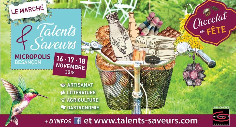 Talents et Saveurs Besançon 16 novembre 2018