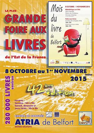 Salon des auteurs régionaux Belfort 24 et 25 octobre 2015