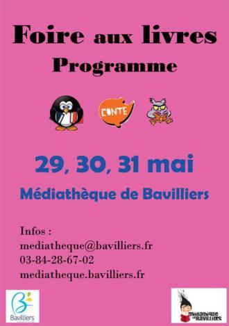 Foire aux Livres de Bavilliers dimanche 31 mai 2015