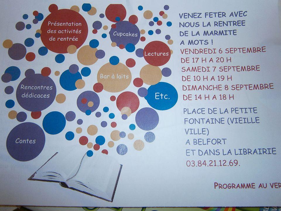 Belfort, Marmite à Mots, 6 et 8 septembre 2013
