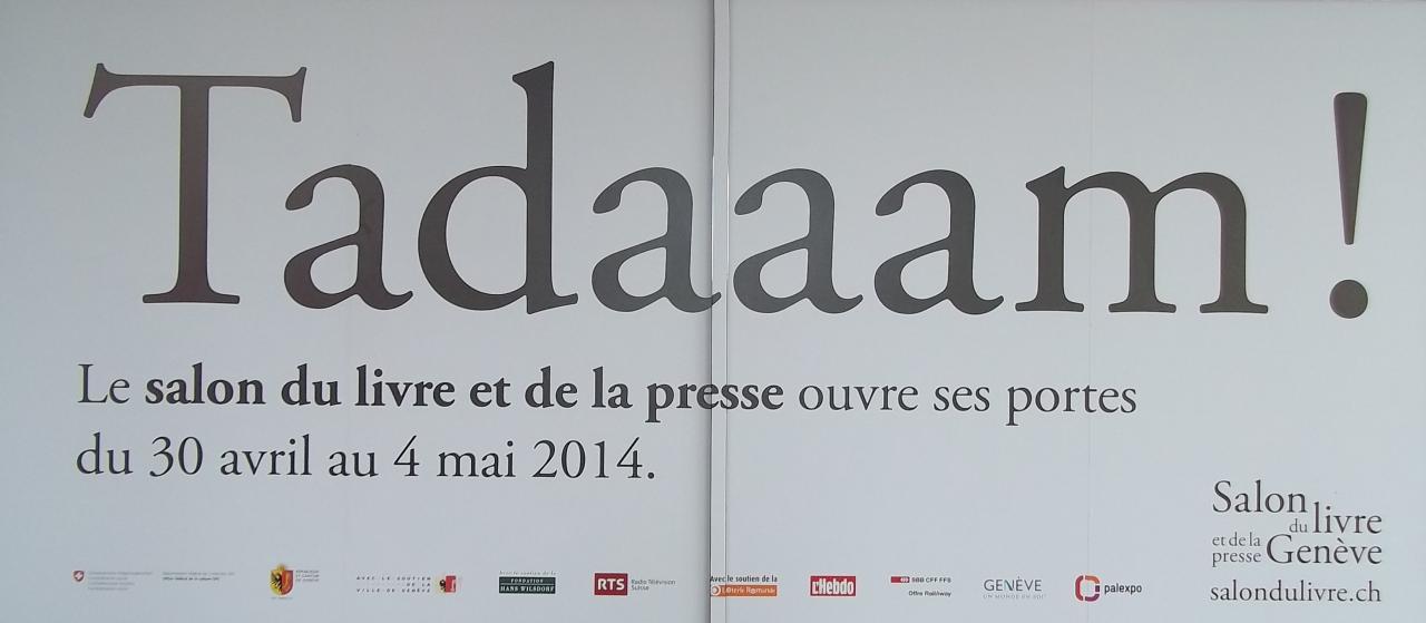 Salon du Livre et de la presse Genève 3 et 4 mai 2014