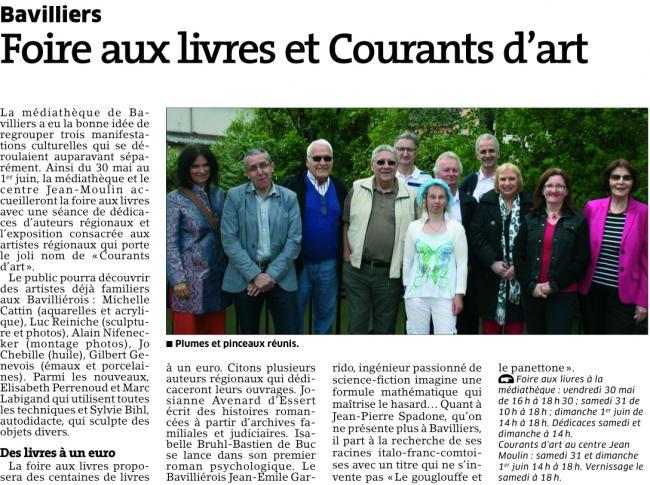Est republicain 29 mai 14 courant d arts 2